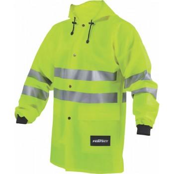 HIGH-VIS rain jacket, L size