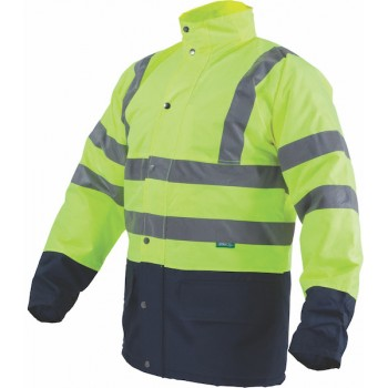 High-vis winter jacket...