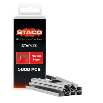 Kabės STACO 53/6mm 5000vnt.