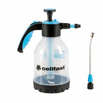 Pump action pressure sprayers